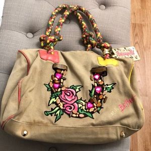 Used betseyville betsey Johnson canvas tote